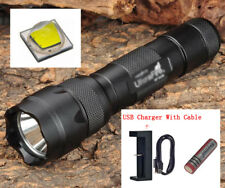 UltraFire WF-502B CREE XM-L2 U3 LED 1200LM 1 Mode Flashlight + Battery + Charger