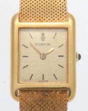 VINTAGE 18K YELLOW GOLD CORUM WATCH 50.98 GRAMS