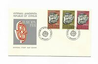 Republic of Cyprus - 6 x 1974 R.O.C Official First Day Cover