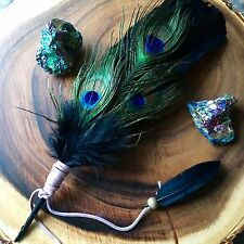 Smudge Feather Fan Native Pagan Goddess Reiki Metaphysical Gift Smudging