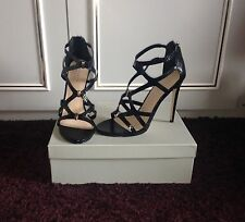 Carvela Jest Black Caged High Heels, Size 5/38