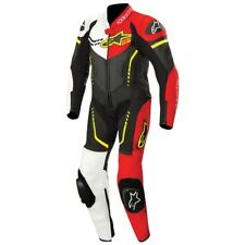 Kids Motorcycle Alpinestars GP Plus Leather Race Suit Black White Red Yellow T