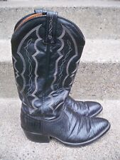 J Chisholm Exotic Lizard Cowboy Riding Rancher Western Men's Leather Boots 8.5