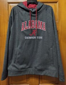 University of Alabama Crimson Tide Hooded Sweatshirt Colosseum XL Red Grey New