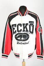 90 S Vintage ECKO UNLIMITED énoncent Varsity Veste | Homme L | Rétro Bomber