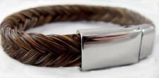 Exceptional hand-made magnetic clasp  horse hair bracelet sorrel-brown horsehair