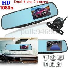 1080P HD Dual Lens Car Rear View DVR Reversing Mirror Video Recorder Camera Cam