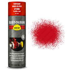 X8 Industriel Rust-oleum Trafic Rouge peinture en Aérosol dur Chapeau 500ml RAL