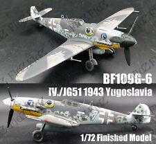 WWII BF109 G-6  Me 109 IV JG.51 1943 Yugoslavia 1/72 finished plane Easy model