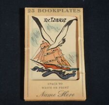 Vintage 25 Bookplates - Ship & Seagull      52496