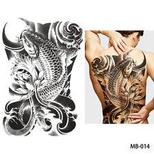 REGNO Unito Big Carp FISH vita destino cambiare di nuovo completo Adesivo Tatuaggio Temporaneo Body Art