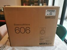 Bowers & Wilkins 606 HiFi Stereo Bookshelf Speakers Black B&W