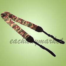 Camouflage DSLR SLR Nikon Canon Sony camera shoulder neck universal strap UK