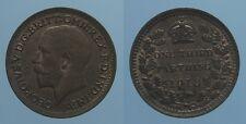 INGHILTERRA 1/3 FARTHING 1913 GIORGIO V SPL