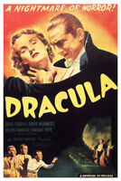 Dracula A Nightmare Of Horror Movie Film Classic Poster 12x18 inch