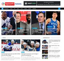 Turnkey Automated Sports News Affiliate Website Free Hosting Setup