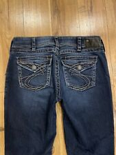 Silver SUKI SURPLUS Thick Stitch Flap Pocket Bootcut Jeans Women's Size 31 X 32