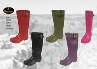 Wetlands Rubber Wellington Boots Wetland wellies welly Olive Red  Plum Fuchsia
