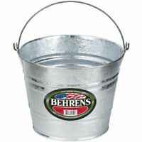 Behrens 1205 Hot Dipped Steel Pail, 5 Quarts