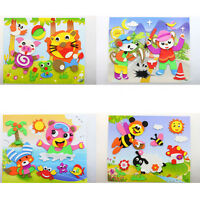 3D DIY Foam Cartoon Self-Adhesive Art Sticker Children Kids Craft Game PuzzWTBP