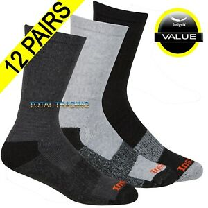 12 Pairs MenS Work Boot Socks Cushion Sole Reinforced Toe Size 6-11 & BIG FOOT