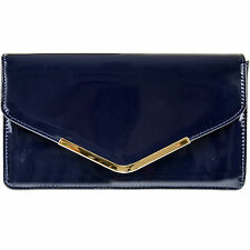 STYLISH PATENT WEDDING LADIES PARTY PROM EVENING CLUTCH HAND BAG PURSE