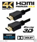 1.5M 2M 3M 5M *Premium* HDMI V2.0 Gold Cable *High Speed+Ethernet* 4kx2k Res