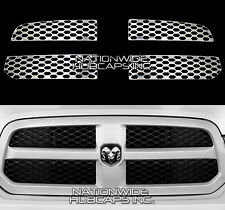 2013-2019 Dodge RAM 1500 CHROME Snap On Grill Overlay Grille Covers Trim Inserts