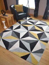 New Small Ex Large Modern Ochre Mustard Lemon Yellow Rugs Soft Carpet Rugs Cheap