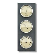 Ashortwalk Weather Station Moon clock, Barometer and Thermometer - Recycled