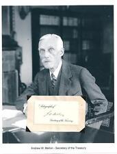 ANDREW W MELLON AUTOGRAPH SIGNED Treasury 11th US Ambassador United Kingdom