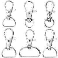 30Pcs Lobster Claw Swivel Trigger Snap Hooks Paracord Keychain Bag Webbing Clasp