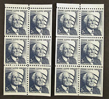 2 Scott #1280c , Frank L. Wright, Booklet Pane of 6, Mint Never Hinged