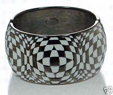 Kenneth J Lane Black and White Enamel Cuff Bracelet