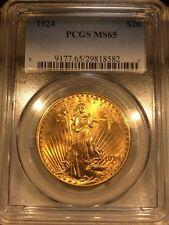 $20 1924 Saint Gaudens Gold, PCGS MS65 PQ+ GEM BU! Extremely Flashy!! No Spots!!