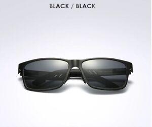 Polarized Fishing Sunglasses Carbon fiber Magnesium frame mirrored UVA UVB BLBLK