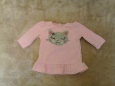 Bébé Fille 6 mois-Rose Polaire Haut Tunique, Mignon Chat Motif-CARTER 'S