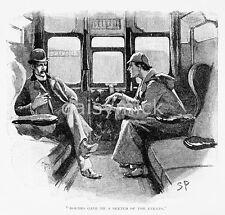 Sidney Paget Strand Magazine Sherlock Holmes 1893, 5x5 Inch Reprint