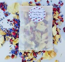 Red White Blue Biodegradable Wedding Petal Confetti Dried 90 bags Vintage Royal