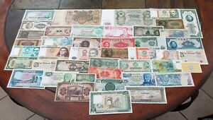 41 OLD WORLD NOTES (EUROPE, ASIA, S.AMERICA + MORE) SEE IMAGES > NO RESERVE