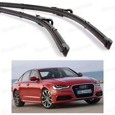 "26"" 21"" Windscreen Wiper Blade Bracketless for Audi A6 C7 2012 2013 2014 2015"