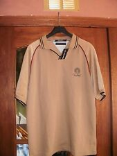 TOMMY HILFIGER POLO SHIRT BEIGE SIZE 5 (L) BRAND NEW WITH TAGS