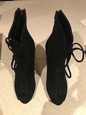 siren elite black suede ankle boots size 9