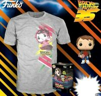 MARTY MCFLY +TSHIRT LARGE FUNKO POP SET BACK TO THE FUTURE MICHAEL FOX PRE ORDER