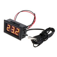 Newly Digital 12V LED Temperature Monitoring Thermometer Meter &Temp Probe
