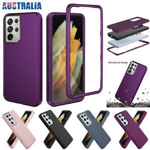 For Samsung Galaxy S20 FE S21 Ultra Case Hybrid Heavy Duty Shockproof Hard Cover