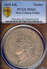 Germany Deutschland Saxe-Coburg-Gotha 1829 Taler Coin PCGS MS62 F.ST Thaler RARE