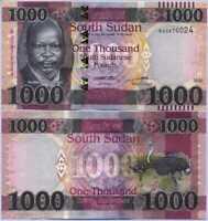 South Sudan 1000 Pound 2020 / 2021 P NEW Dennomination UNC