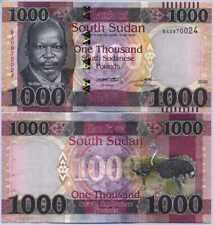 South Sudan 1000 Pound 2020 / 2021 P NEW UNC