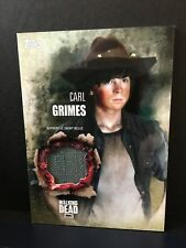 The Walking Dead Season 5 Carl Grimes  Chandler Riggs Authentic Shirt Relic Card